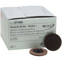 3M Scotch-Brite Roloc Surface Conditioning Disc, 2 inch, Coarse, Brown, 25 per box, 07480