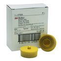 3M Scotch-Brite Roloc Bristle Disc, 2 inch, 80 Grit, Yellow, 10 per box, 07525