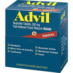 Advil Tablet Packet, Priced Per Packet, 50 Packets Per Box