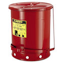 14-Gallon Oily Waste Can for General Use, Lever Lid, Red, 400-09500