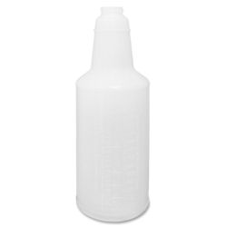 Natural Plastic Empty Spray Bottle with Graduations Printed - 32 oz, Priced Each