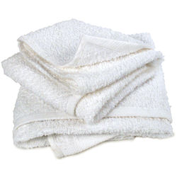 Terry Towels, White, Sold Each