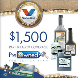 Valvoline Professional Series Used Car  Restoration Kit and Protection Plan w/Nitrogen, Roadside Assistance & Tire Hazard 150