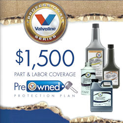 Valvoline Professional Series Used Car  Restoration Kit and Protection Plan
