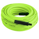 Flexzilla Air Hose, 3/8 in. x 50 ft., 1/4 in. MNPT Fittings, ZillaGreen - HFZ3850YW2