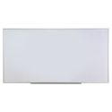 Dry Erase Board, Melamine, 96 x 48, Satin-Finished Aluminum Frame